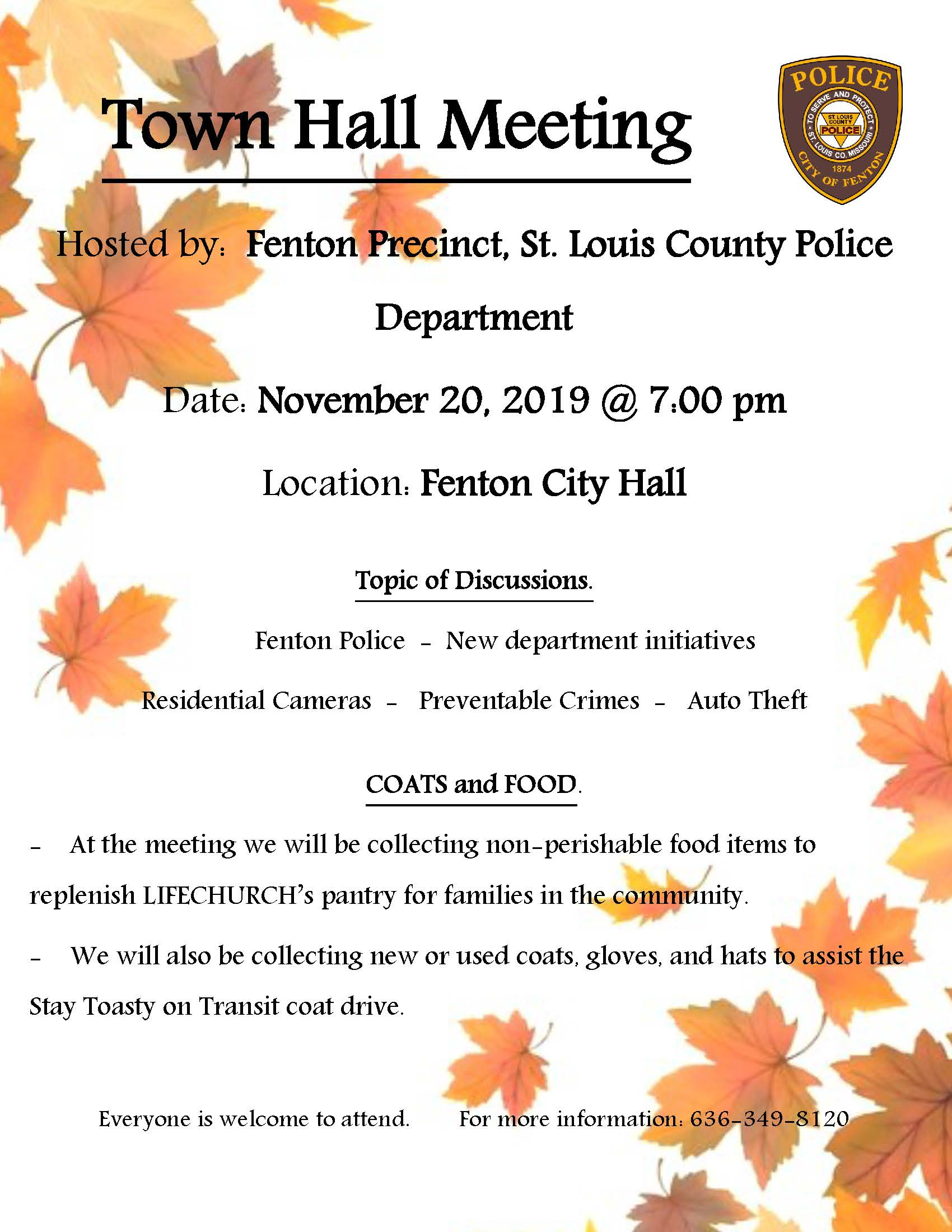 Police Town Hall Meeting 2019