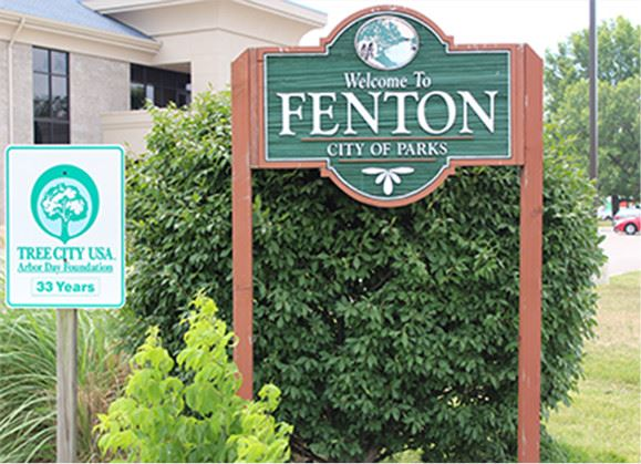 Welcome to Fenton sign
